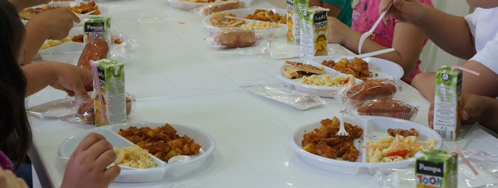 BCYM children's events always include a hot meal for the children and their parents. (Photo: Ashley al-Saliby)