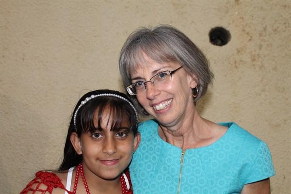 Sosannah and Stephanie during Sosannah's first year at ABTS with her family