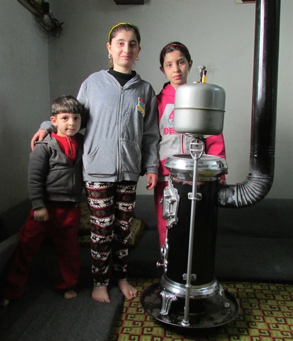 A Syrian refugee family received a fuel-burning stove from LSESD that would mercifully heat one room during the icy winter months. (Photo: Anonymous)