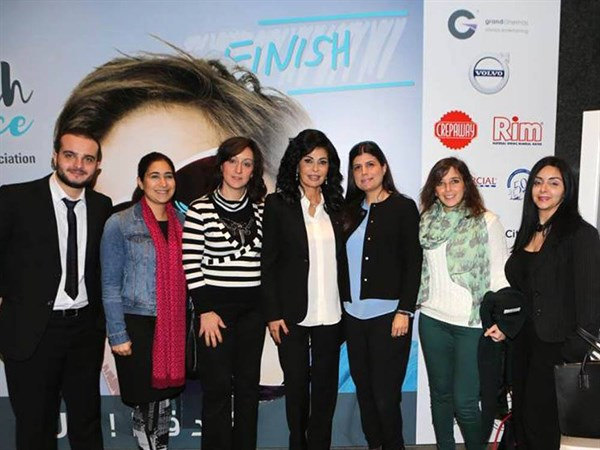 SKILD staff members along with LSESD staff members (SKILD's parent organization), pictured with Beirut Marathon founder, May El Khalil. (Photo: The SKILD Team)